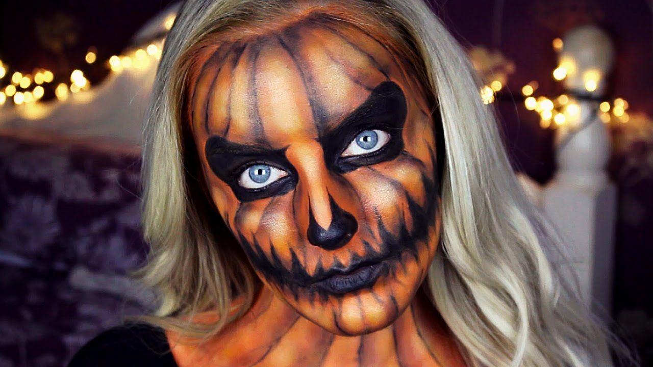 Uncategorized Pumpkin Face Makeup halloween pumpkin makeup tutorial emily alison fantasy alison