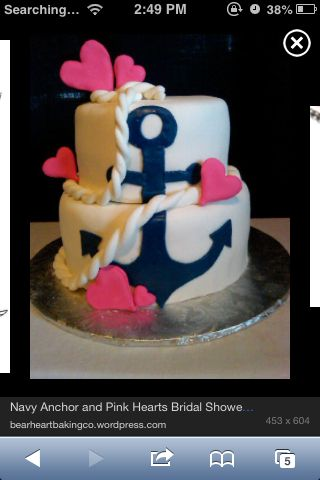 Anchor birthday cake so cute I think Im gonna have it for my 17
