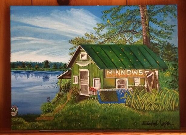 Oil painting of minnows shack in Star Lake, WI. | Art | Pinterest ...