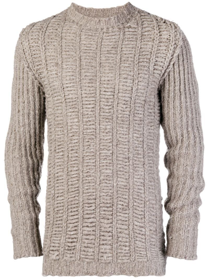 Rick Owens chunky knit jumper - Brown #chunkyknitjumper