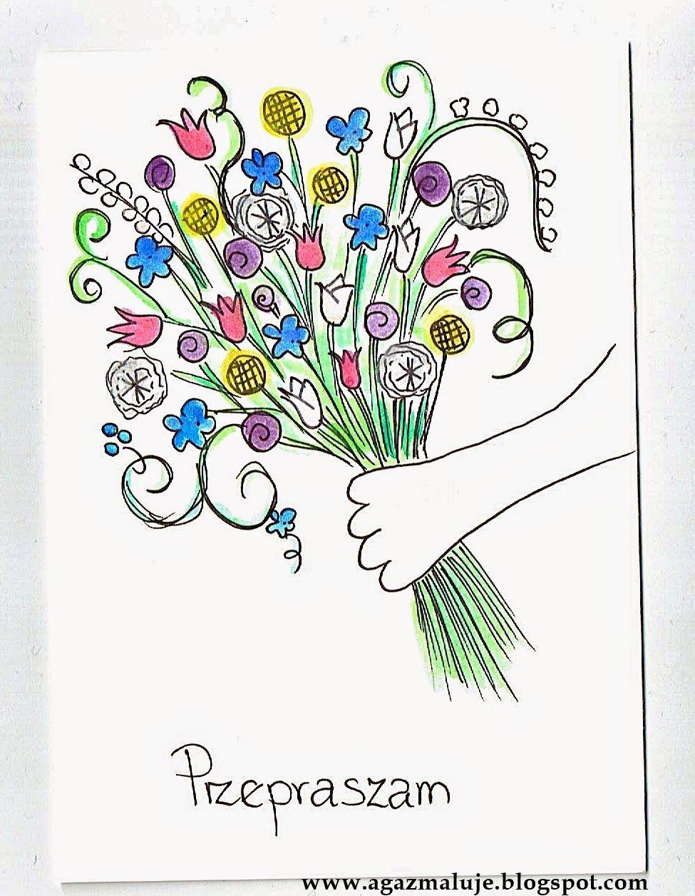 Kartka Przepraszam Bukiet Kwiatow Photo And Video Blogger Photo