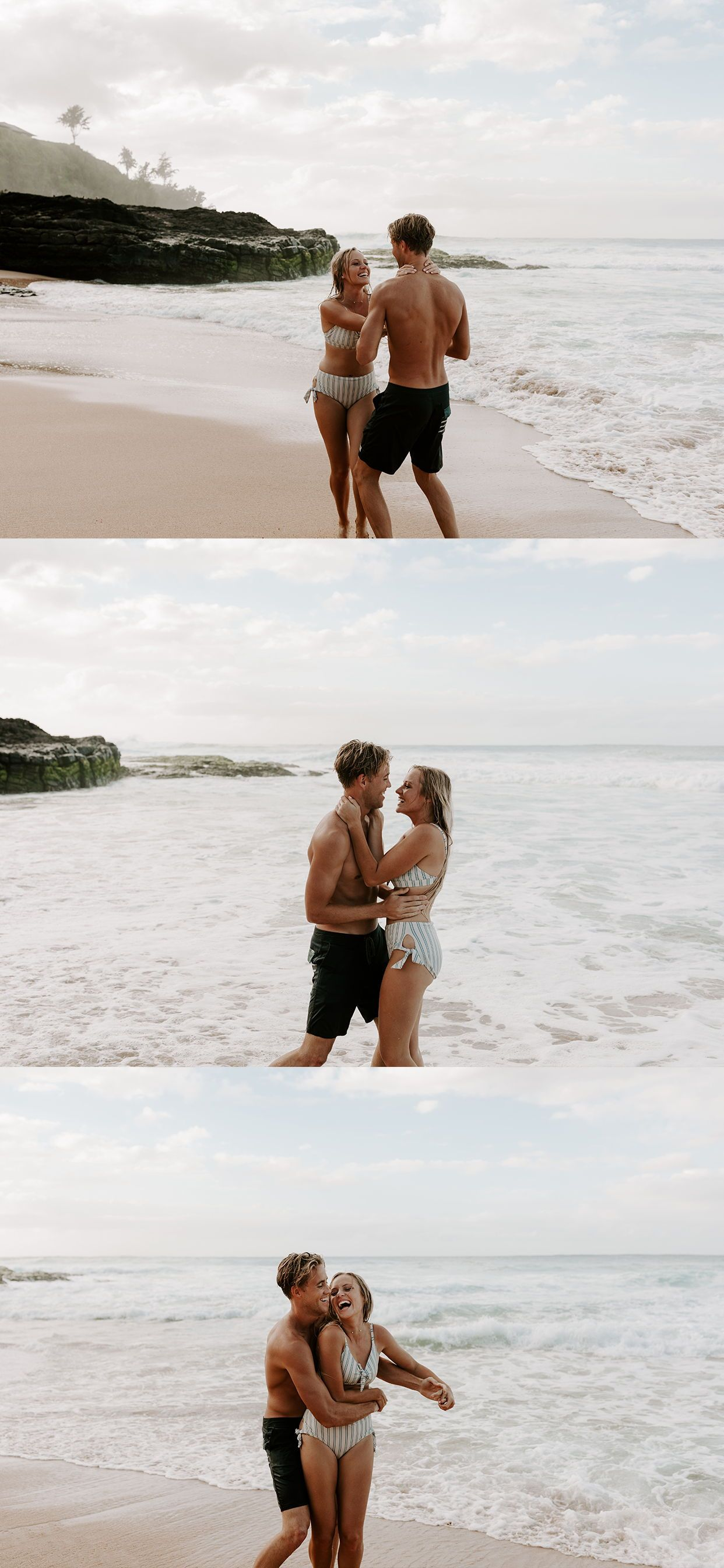 Adventurous Kauai Beach Engagement Session