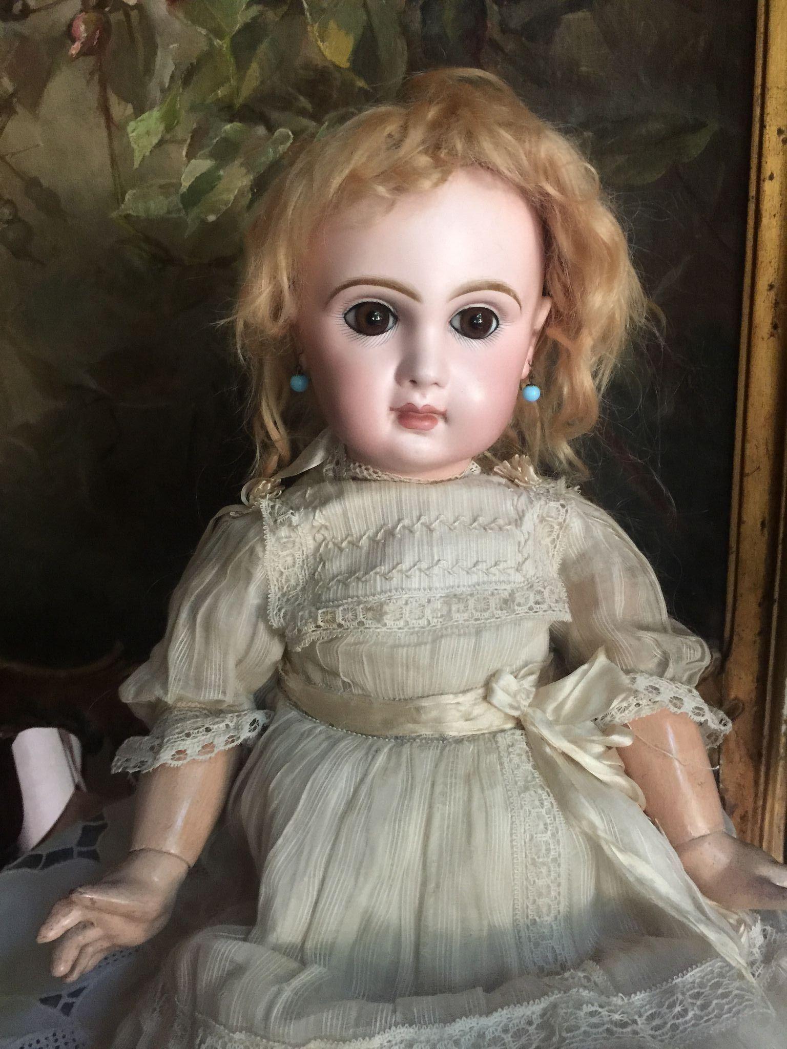 Bebe Jumeau size 8 amber eyes from antiquedolls6395 on Ruby Lane