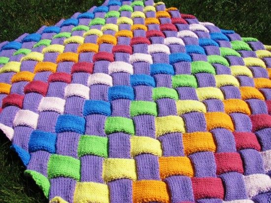 Entrelac Blanket Pattern Free Video Tutorial Best Ideas | Manta ...