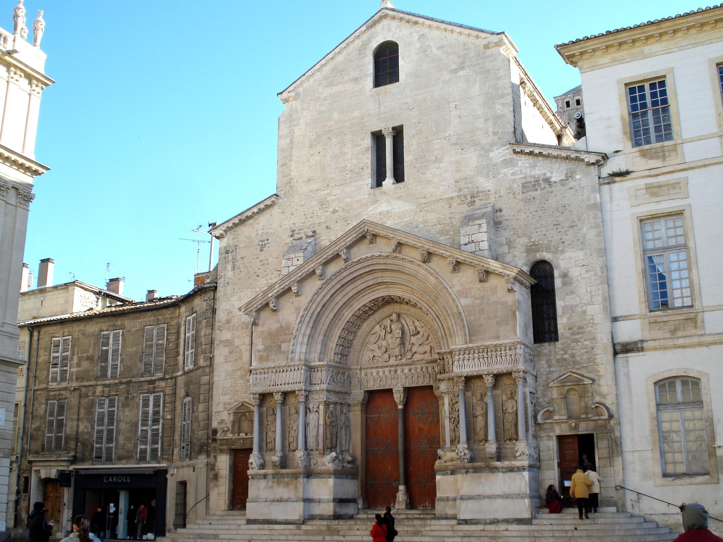 Romanesque Architecture France Church Of St Trophime