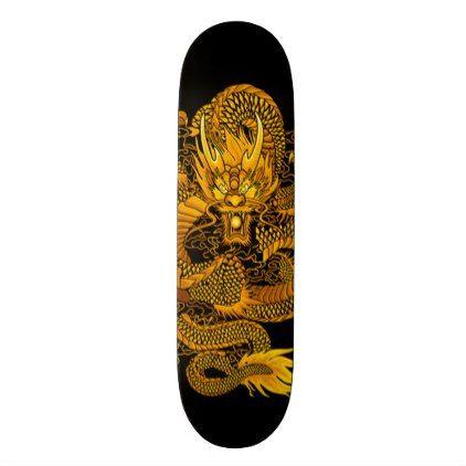 Eastern Gold Dragon One Element Custom Pro Deck - diy individual customized design unique ideas