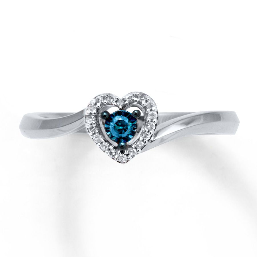 10 Carat Tw Ring Sterling Silver Heart