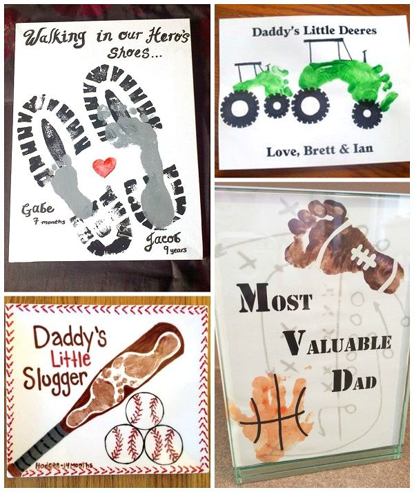 Father S Day Footprint Gift Ideas From The Kids Fathers Day Art Father S Day Diy Fathers Day Crafts Father day craft for preschoolers