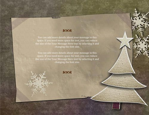 Old paper Christmas flyer - Free Flyer Template by Hloom - free printable christmas flyers templates
