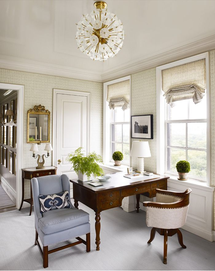 office space in the lovely upper east side apartment designed by interior designer cathy kincaid and