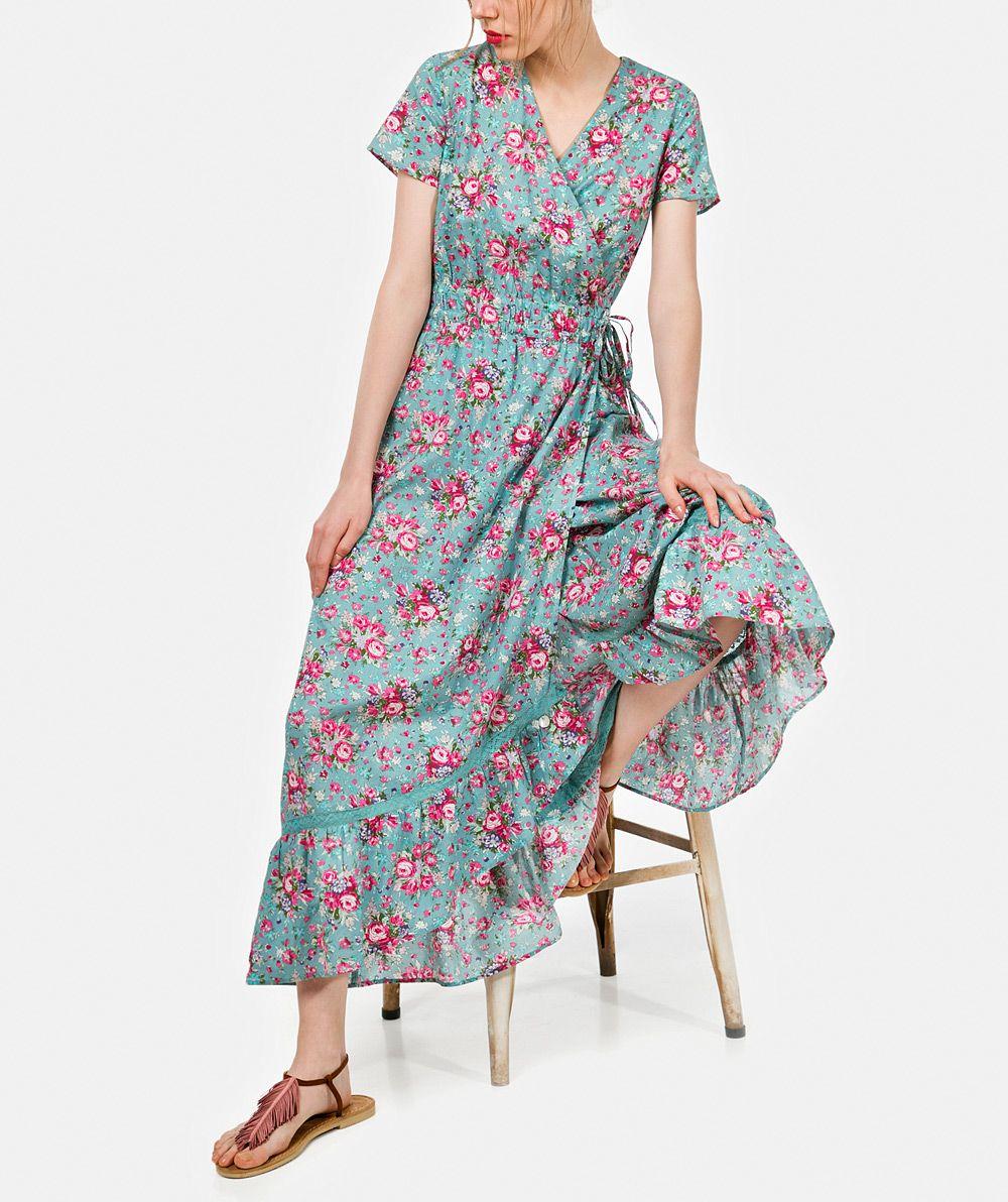 9f84cec0fda Vestido comprido com estampado floral Vestidos Mulher