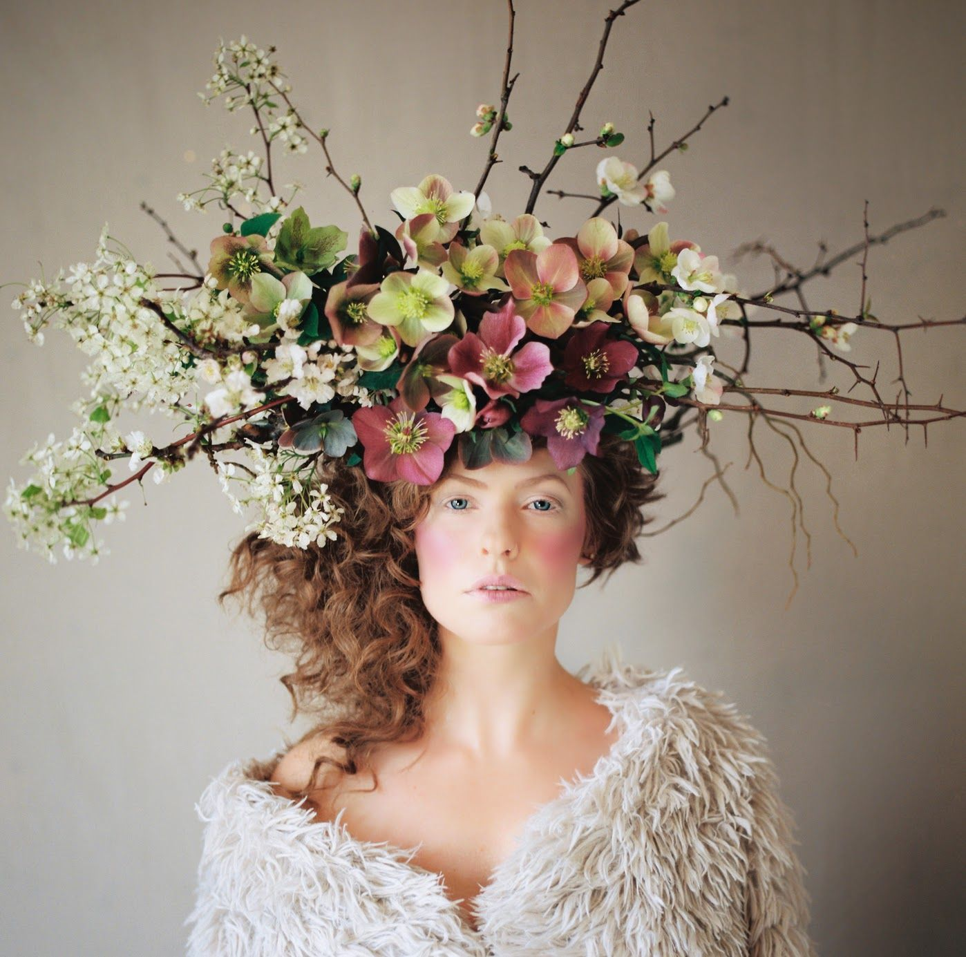La Boheme Floral Headpiece 2  Big Hair  Floral