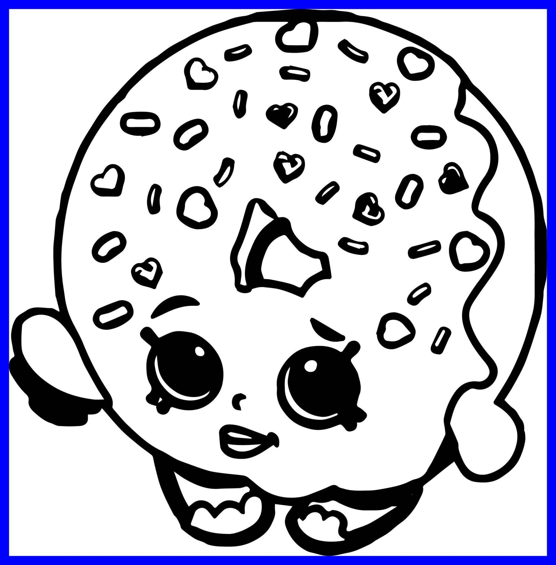 21 Inspired Photo Of Donut Coloring Page Shopkin Coloring Pages