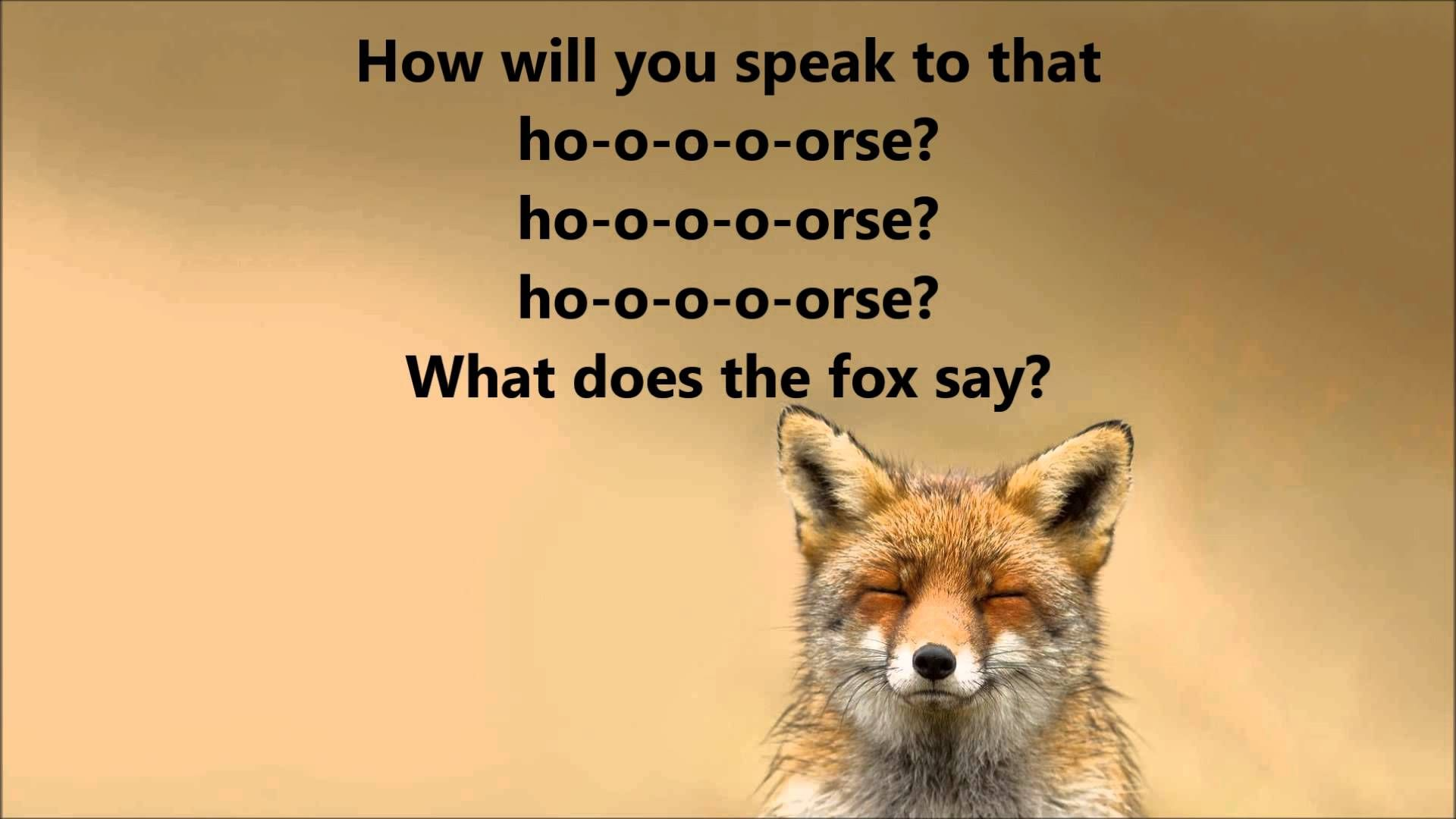 what does the fox say ylvis lyrics figurative