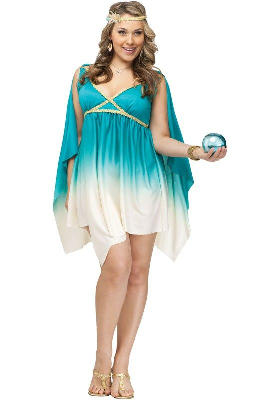 Brand New Calypso Sea Goddess Plus Size Halloween Costume | Plus ...