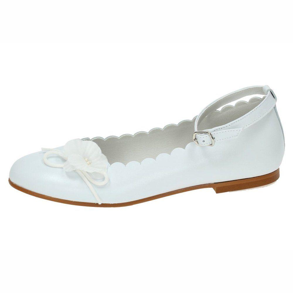 f9c2392cc2b MADE IN SPAIN 2113 Manoletinas Blancas NIÑA Zapato COMUNIÓN Blanco 33   Amazon.es