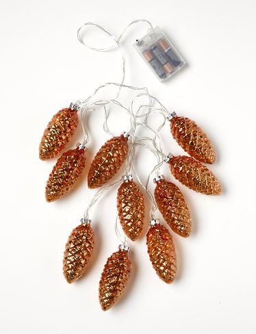LED Pinecone String Lights