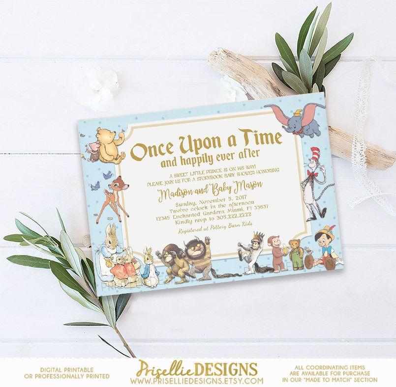 Storybook Baby Shower Invitation, Storybook Invitation, Storybook ...