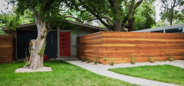 Mid Century Modern Fence And Denver Modern Fence Fencing
