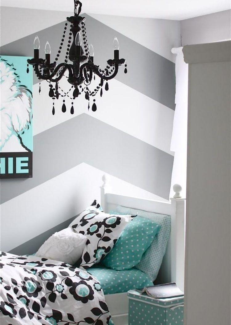 streifen und zig zag muster sind einfach zum nachmachen wandtechniken pinterest. Black Bedroom Furniture Sets. Home Design Ideas