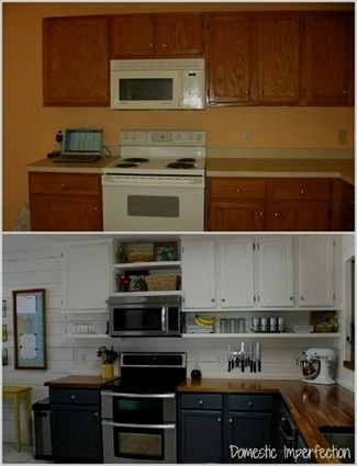Budget Kitchen Remodel Idea Move Current Cabinets Up Add Shelf Adorable Budget Kitchen Remodel Ideas Painting