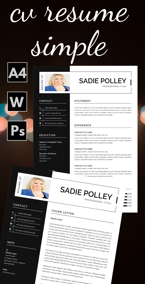 Resume And Cover Letter Template в 2020 г