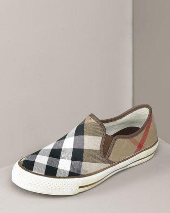 930e6193716 Burberry Check Slip-On Sneaker
