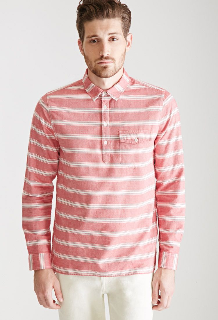 e06dc96a5a783 Men's Pink Striped Popover Shirt in 2019 | James and the Giant Peach ...