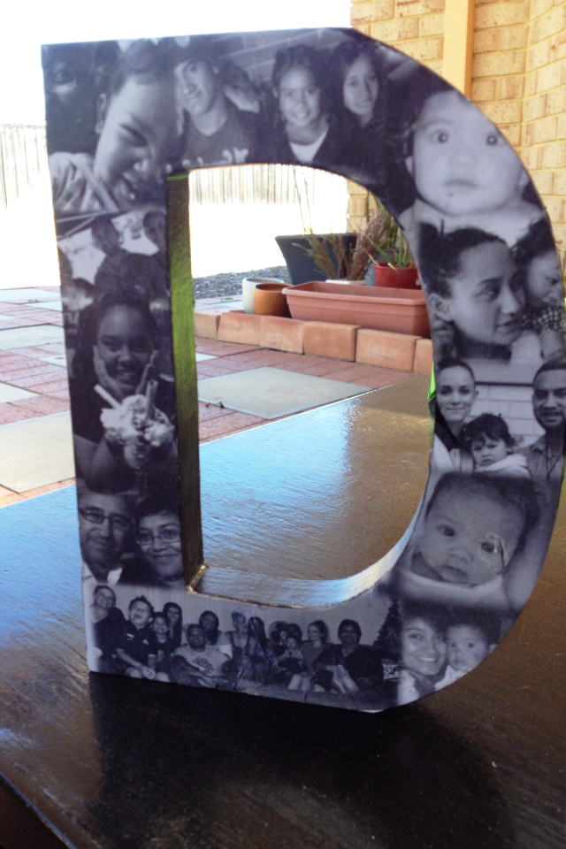 Birthday gift for my sister prepared photo collage using word then birthday gift for my sister prepared photo collage using word then mod podged onto wooden negle Gallery