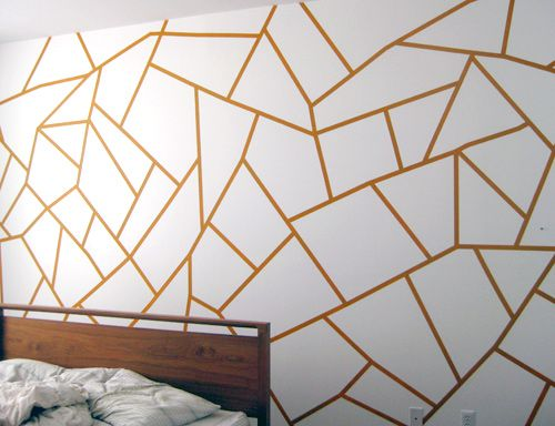 Diy Project Geometric Painted Wall Design Sponge Diy Wall Painting Geometric Wall Paint Geometric Wall
