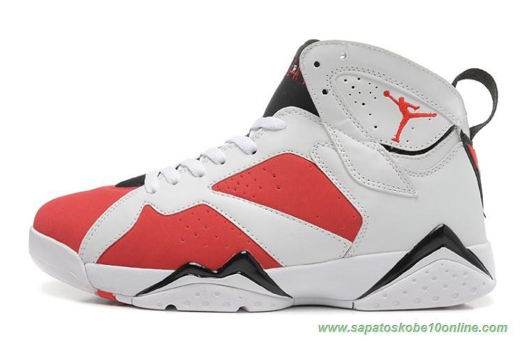 buy online d89bd 71a1d ... clearance tenis de marca barato air jordan 7 retro branco vermelho  304775 160 . 38a51 d7f80