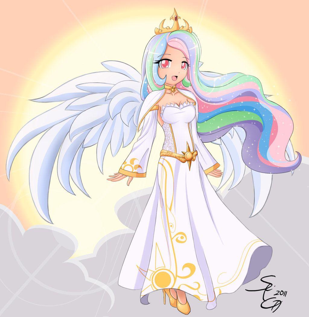 Princess Celestia as Human by Seiryuga | My Little Pony ...