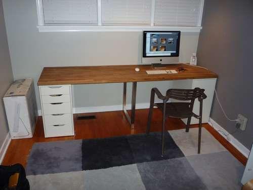 Giant Ikea Numerar Desk Ikea Workspace Countertop Desk Ikea Wooden Desk