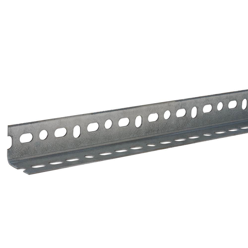 Everbilt 1 1 2 In X 96 In Zinc Plated Slotted Angle 800117 With