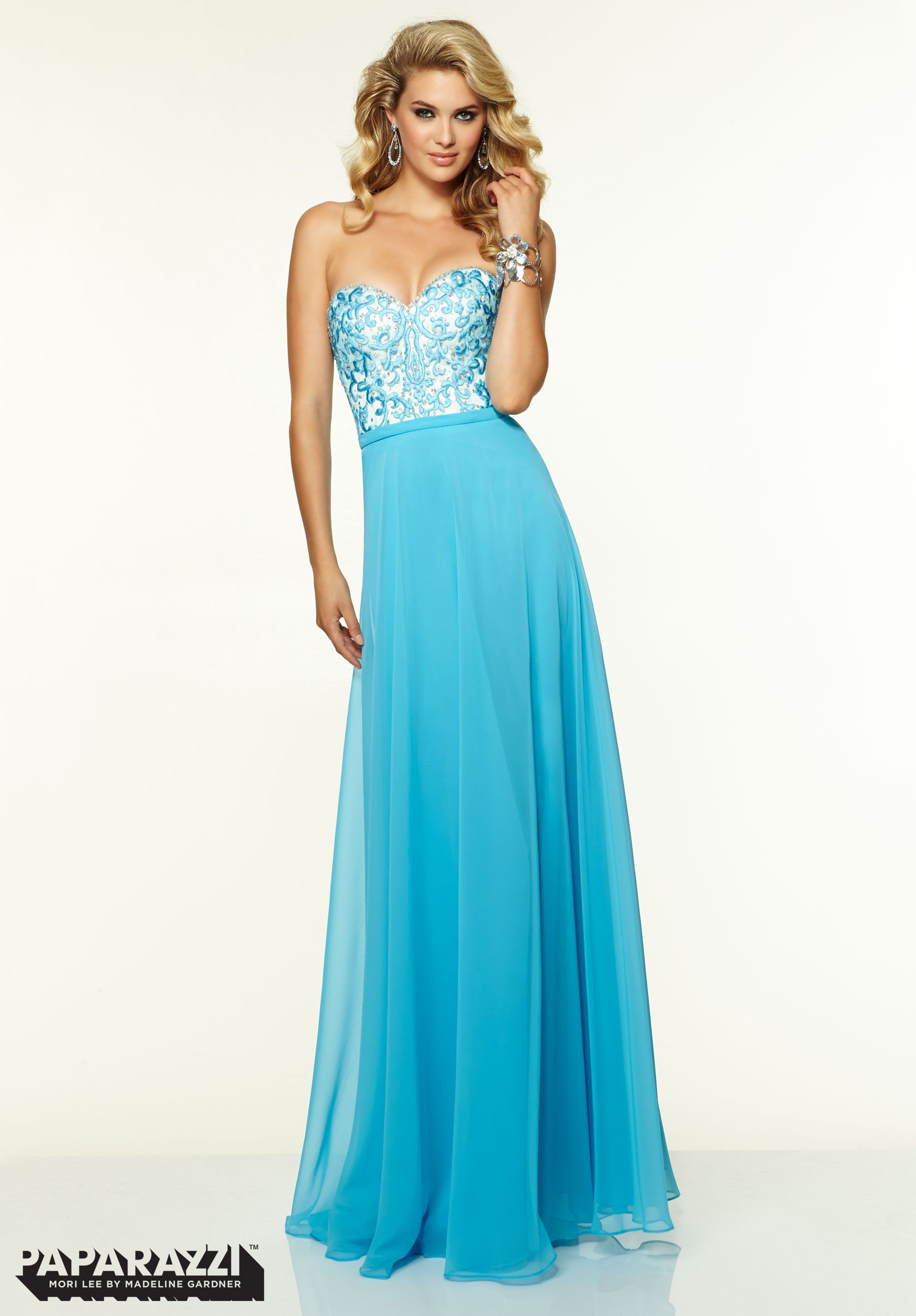 Prom Dresses Gowns Style Chiffon with Embroidery and