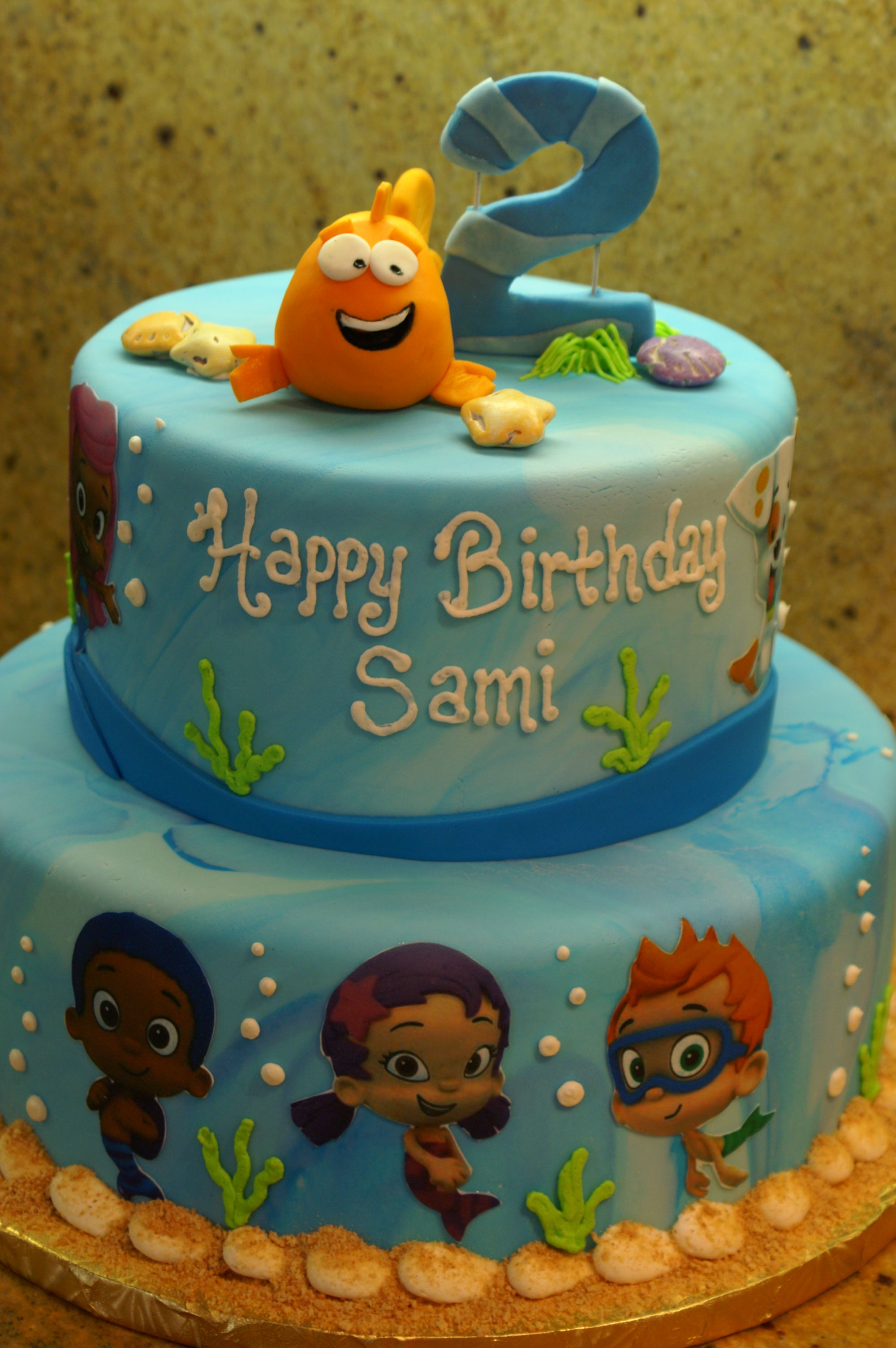 Bubble Guppies Birthday Cake Party Time Pinterest Bubble