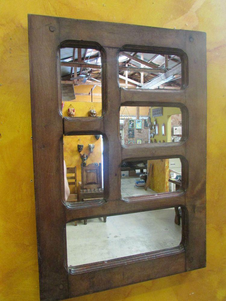 Rustic Old Door Mesquite Mirror Mexican 24x35 Western Heavy