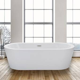 Aqua Eden 59 x 29 Freestanding Soaking Bathtub