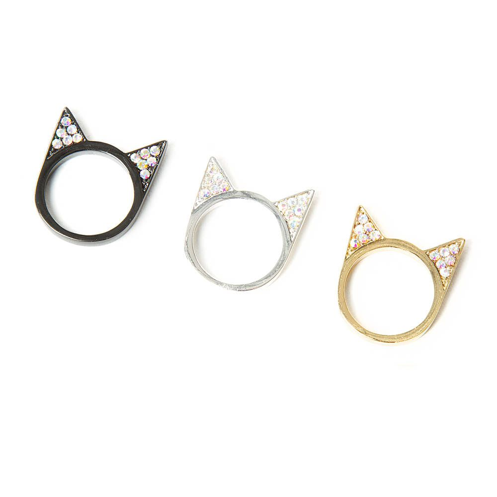 Katy Perry Crystal Cat Ears Rings Set of 3 | Claire's