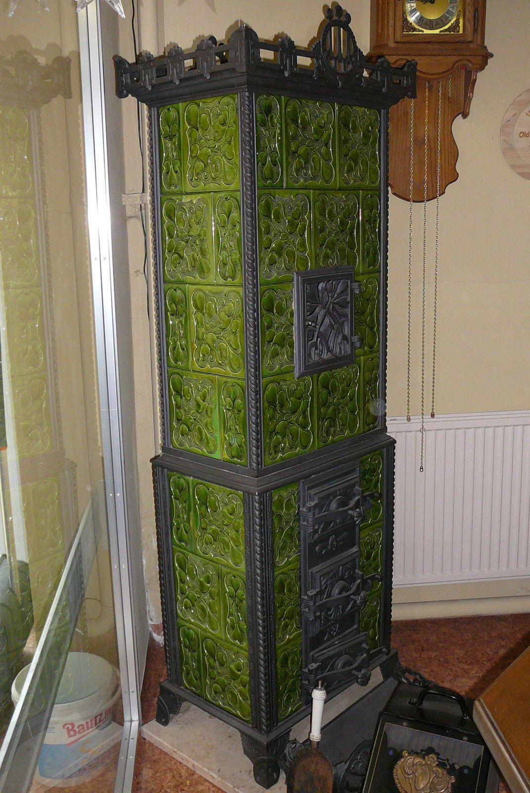 kachelofen antik meissner kacheln sehr guter zustand funktionsf hig restauriert ebay fen. Black Bedroom Furniture Sets. Home Design Ideas