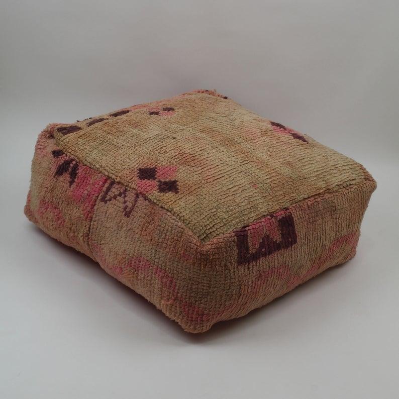 Boujad floor cushion, moroccan floor pillow cover, vintage handmade floor cushions, berber floor cushion covers B18