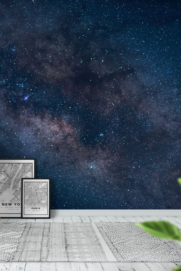 Milky way over the Sunset Arch Wall mural in 2020
