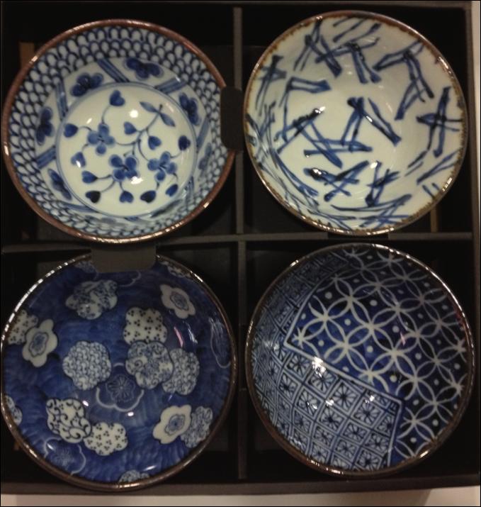 Set ciotole in porcellana giapponese