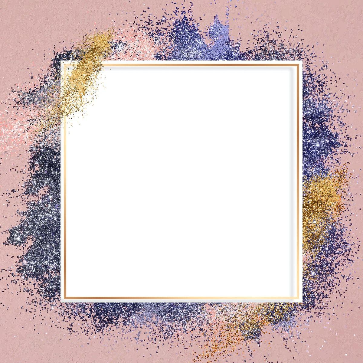 Download Premium Vector Of Glitter Frame Vector Pink Sparkly Background Glitter Frame Sparkly Background Frame
