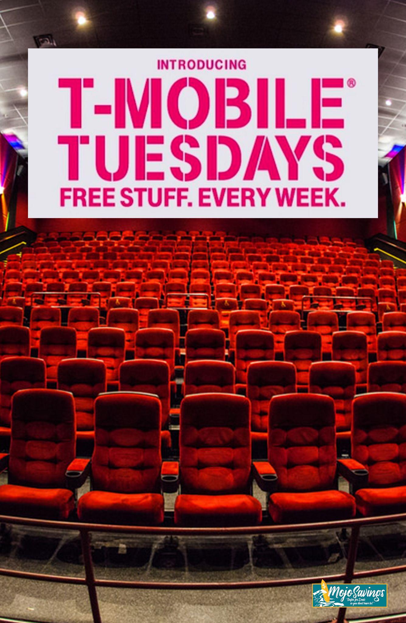 TMobile Tuesdays FREE Movie Rentals, Movie Tickets