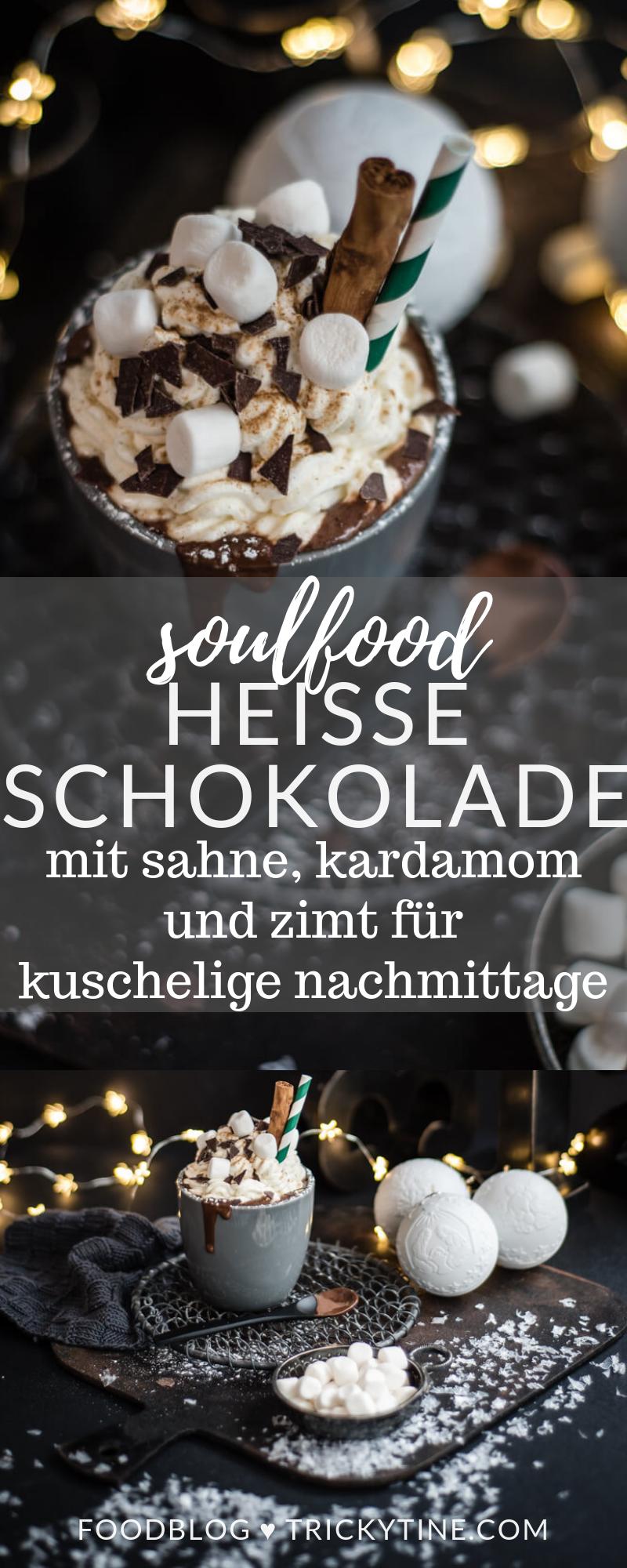 Heiße Schokolade mit Sahne, Zimt und Kardamom - trickytine