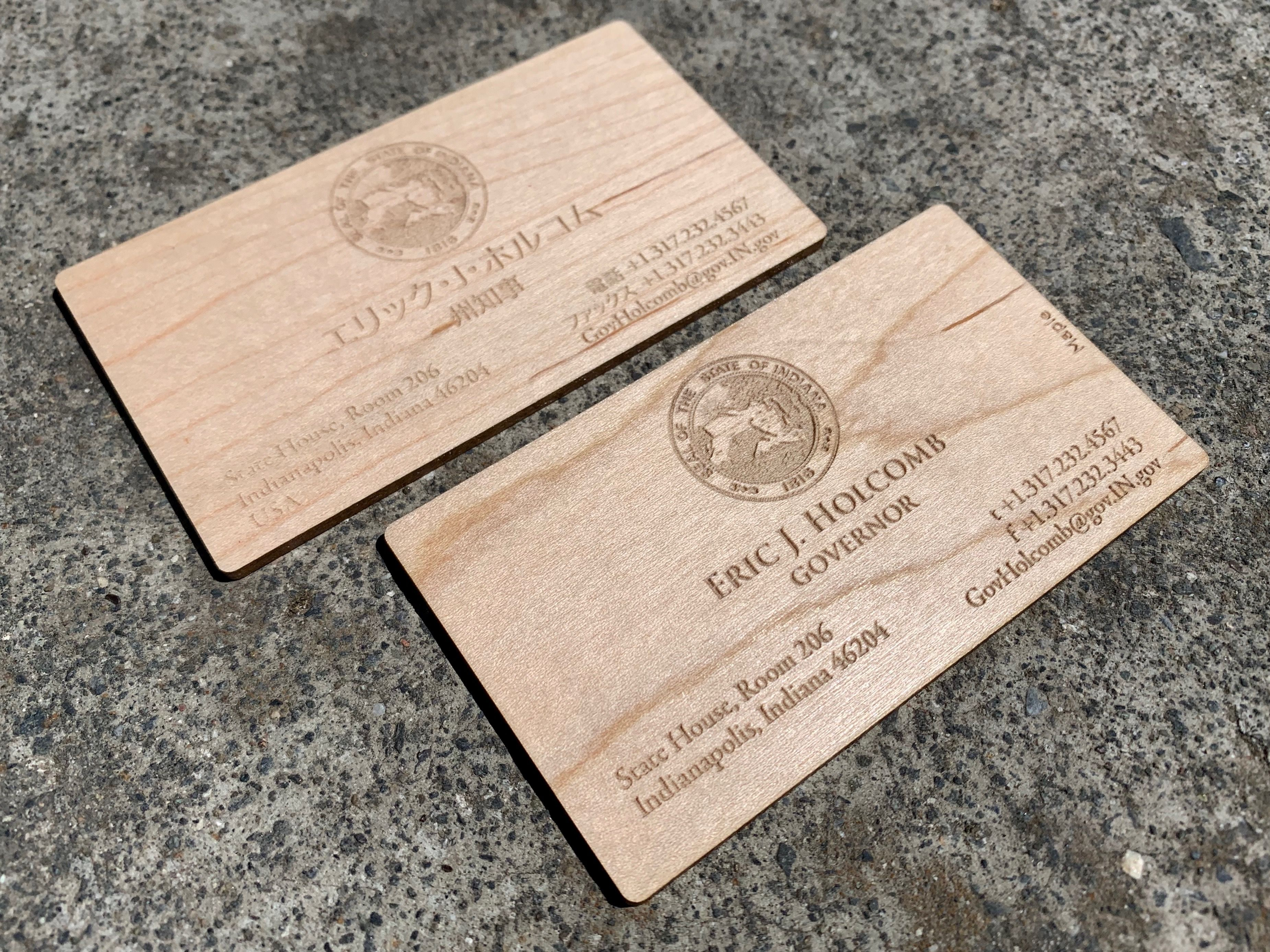 Pin On Wood Business Cards