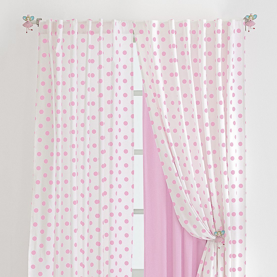 Pink Polka Dot Curtain Curtains Polka Dot Curtains Decor