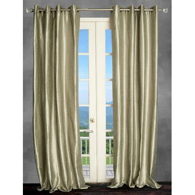 """Parisian Home Style Thermal Single Curtain Panel Size: 50"""" W x 108"""" L, Color: Silver"""