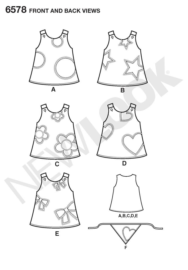6m - 4T / Dress by Simplicity New Look / Pattern for purchase / Woven fabric